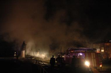 Islandijos plente naktį padegtas