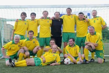 Tarptautinį žurnalistų futbolo turnyrą laimėjo vilniečiai