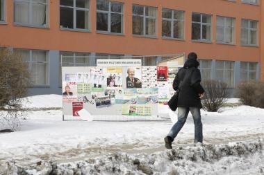Savivaldybių rinkimai: Klaipėdoje – pirmieji pažeidimai
