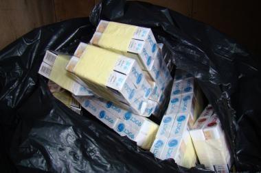 Panevėžio rajono poliklinikoje rasta kontrabandinių cigarečių