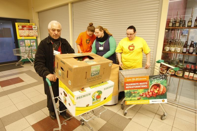 Klaipėdiečiai suaukojo per 20 tūkst. maisto produktų skurstantiems
