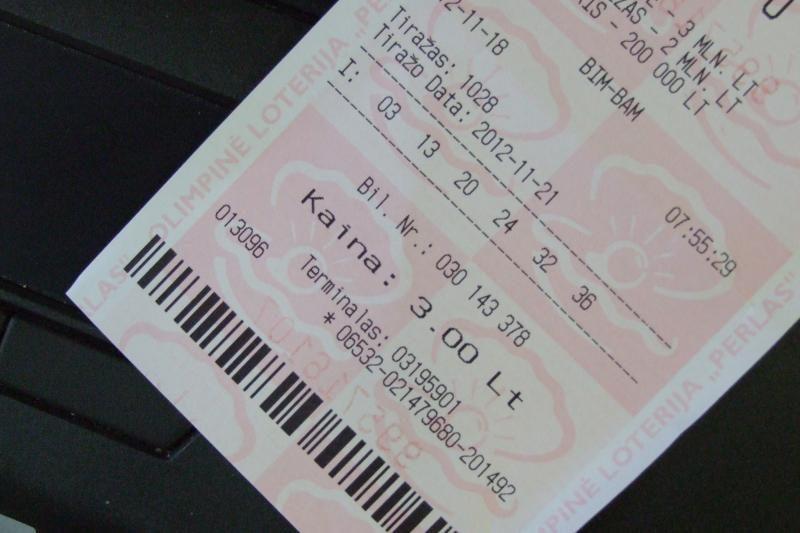 Žmonės stebisi pabrangusiais loterijos bilietais