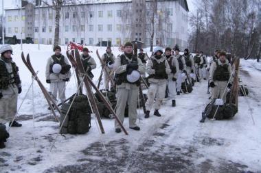 Algirdo batalione - žiemos pratybos į misiją besirengiantiems kariams