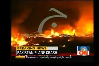 Aviakatastrofa Pakistane: krovininis lėktuvas nukrito tankiai apgyvendintame rajone