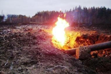 Dujotiekio sprogimas Širvintų rajone didelės žalos gamtai nepadarė