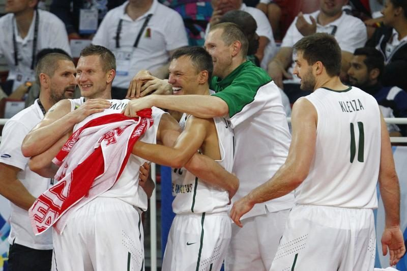 L.Kleiza: su rusais į finalą įsivėlęs paskui gali ir į lėktuvą nespėti