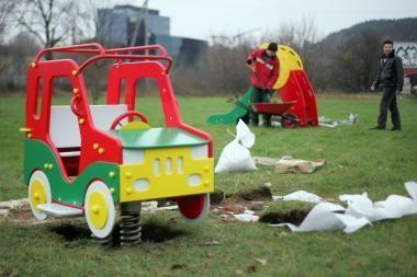 Mažiesiems vilniečiams - nauja vaikų žaidimų aikštelė
