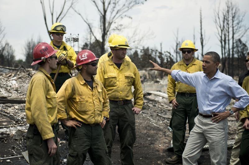 JAV prezidentas Obama aplankė gaisrų niokojamą Kolorado regioną