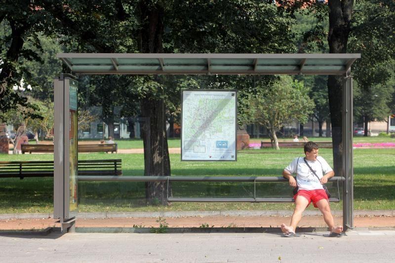 Maskvoje – pirmosios šildomos viešojo transporto stotelės