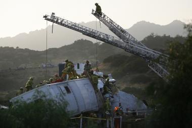 Kalifornijoje susidūrus traukiniams, žuvo 12 žmonių