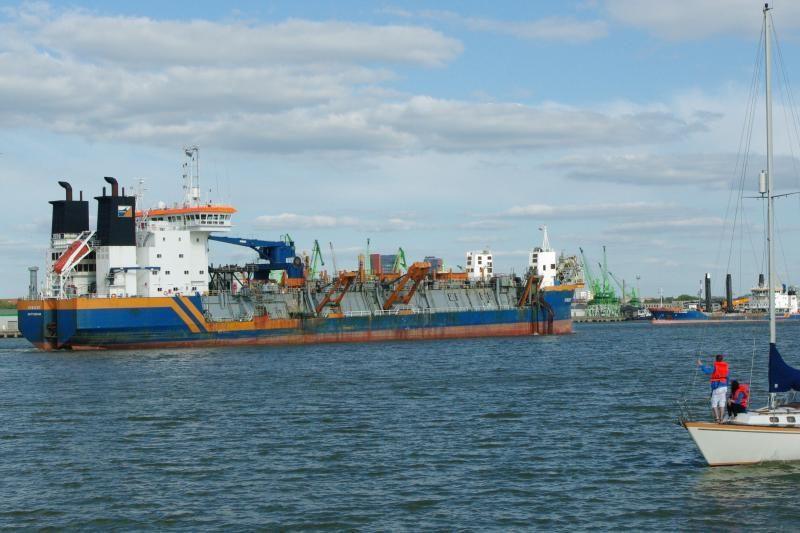Klaipėdos uosto laivybos kanalas buvo gilinamas neįprastai tyliai