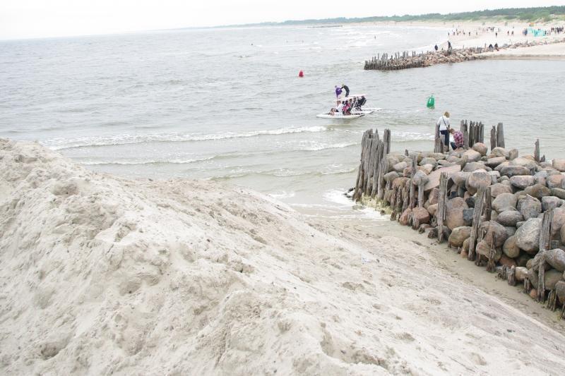 Šventojoje   smėlio    pilių  nebestatys