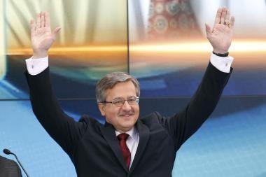 Lenkijos prezidento reitingai kopia aukštyn