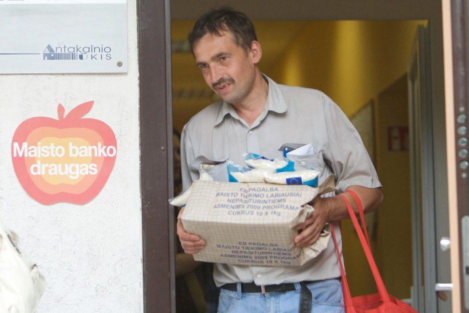 """Socialiai remtiniems vilniečiams - """"Maisto banko"""" parama"""