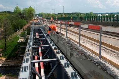 Kelio per Grigiškes rekonstrukcija artėja prie pabaigos