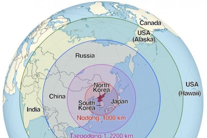 Kam verta bijoti Šiaurės Korėjos raketų? (tikimybių žemėlapis)