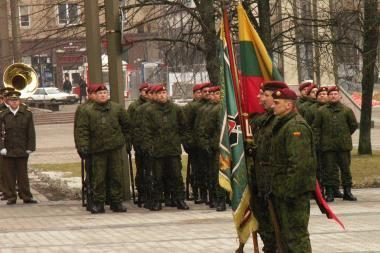 19-ųjų metinių įkūrimo proga pagerbti Lietuvos krašto apsaugos savanoriai