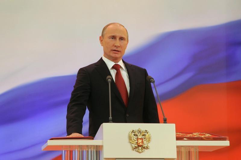 Ukrainoje V.Putinas aplankė baikerius prie Sevastopolio