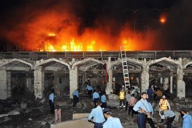 Pakistane sprogimas sugriovė viešbutį