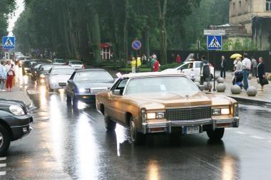 Į Palangą - amerikietiškais automobiliais