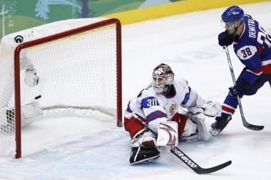 Slovakijos ledo ritulininkai nuleido rusus ant žemės