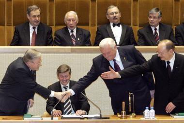 V.Landsbergis ignoruos A.Brazausko laidotuves?