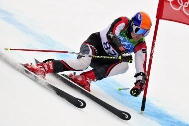 Kalnų slidininkas V.Rumiancevas finišavo šeštajame dešimtuke