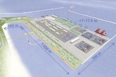 Giliavandeniam uostui - pusė milijono eurų