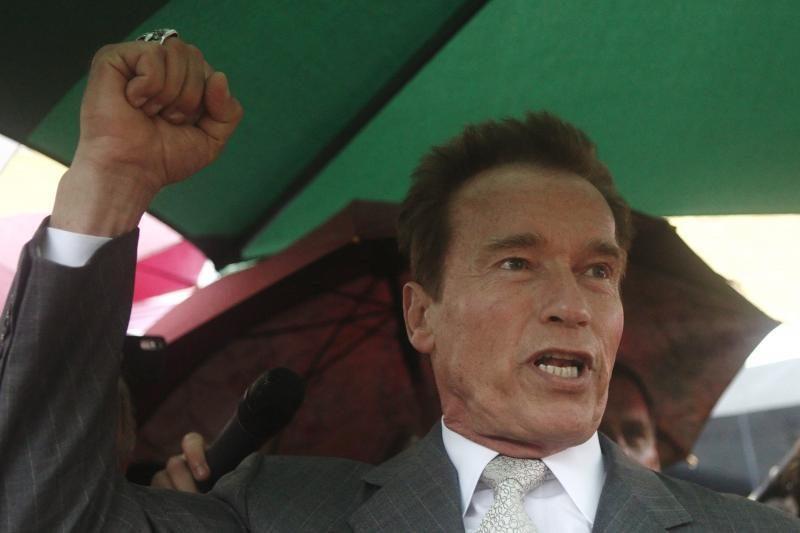 A.Schwarzeneggeris yra sutuokęs dvi gėjų poras