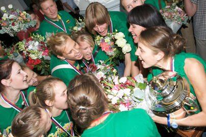 Čempionės grįžo į Lietuvą (nuotr.)