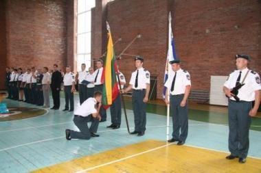 Jauni policininkai prisiekė tarnauti Tėvynei bei žmogui
