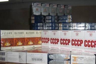 Sudegintos kontrabandinės cigaretės