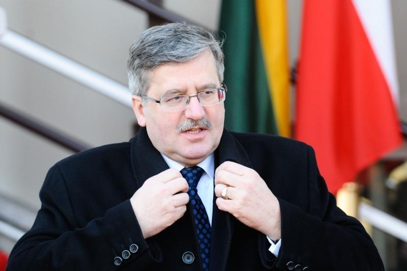 B.Komorowskis: šiandien Lietuva ir Lenkija eina ta pačia kryptimi