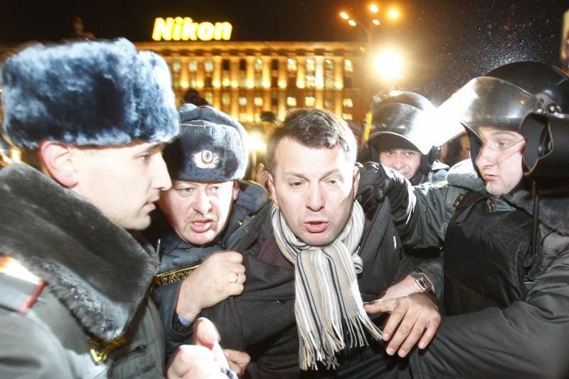 Maskvoje prie Tiriamojo komiteto mitinguoja opozicijos aktyvistai