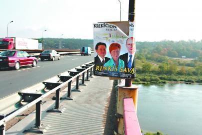 Politikų reklamai miestas išleis tūkstančius