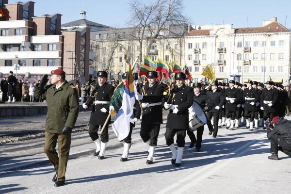 Klaipėdiečiai minėjo Valstybės atkūrimo dieną