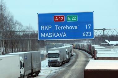 """""""Linava"""": padėtis Latvijos ir Rusijos pasienyje gerėja, vežėjų nuostoliai – apie 2 mln. litų"""