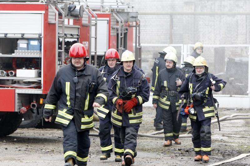 Alytaus ugniagesiai iš gaisro išgelbėjo per šimtą avių