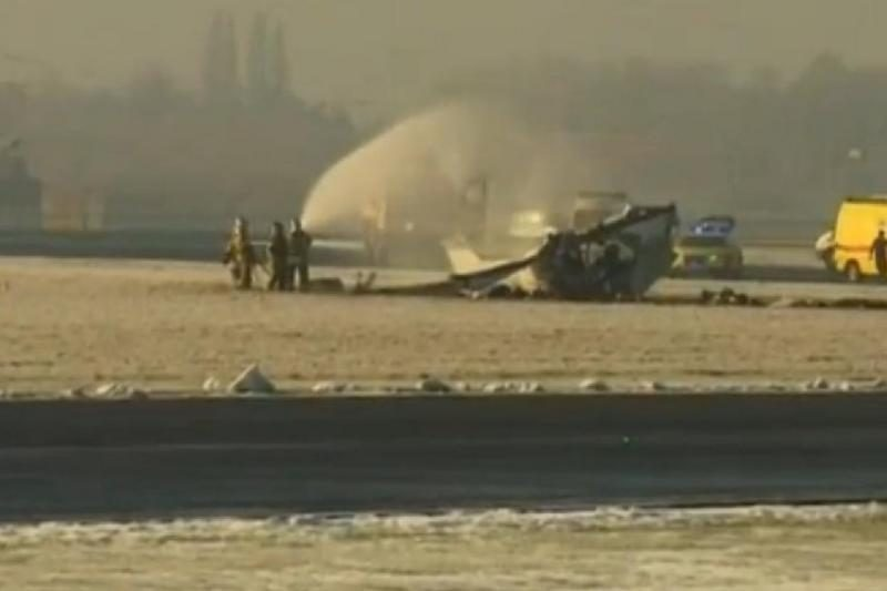 Užsidegė futbolo aistruolius skraidinęs lėktuvas, penki žmonės žuvo
