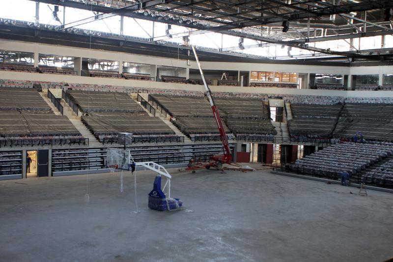 Klaipėdos arenos statybos artėja prie pabaigos