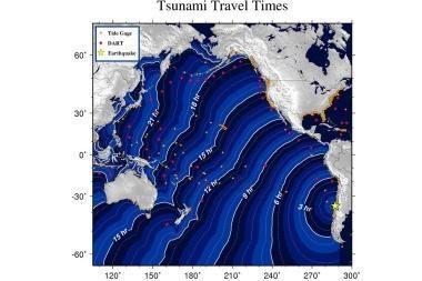 Čilės žemės drebėjimo sukelta cunamio banga pakrantėje gali siekti penkis metrus