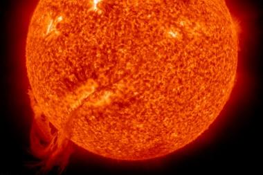 Galinga NASA kamera užfiksavo Saulės blykstelėjimą
