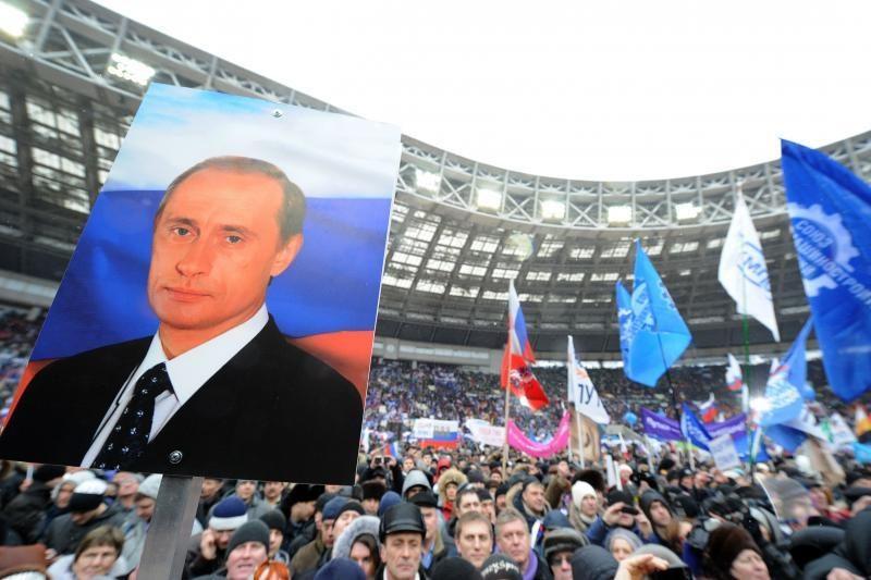 Į mitingą Lužnikuose susirinko 130 tūkst. žmonių