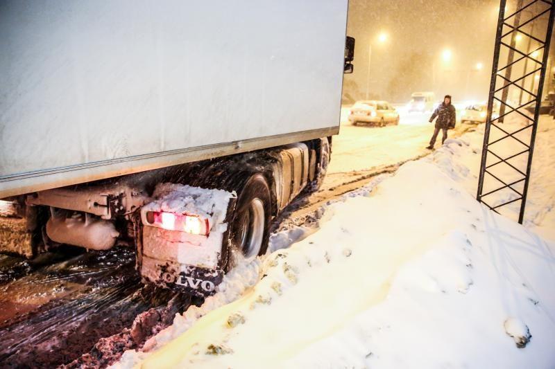 Vilkikų vairuotojai: kaip išgyventi sniego spąstuose?