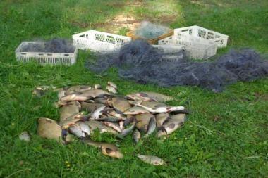 Pričiupti tinklais mėginę žvejoti brakonieriai