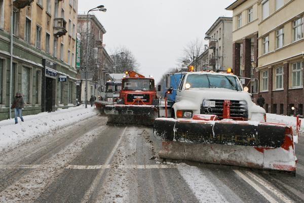 Žiema Klaipėdoje: eismo sąlygos sudėtingos