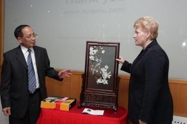 D.Grybauskaitė: Lietuva - perspektyvi vieta Kinijos investicijoms