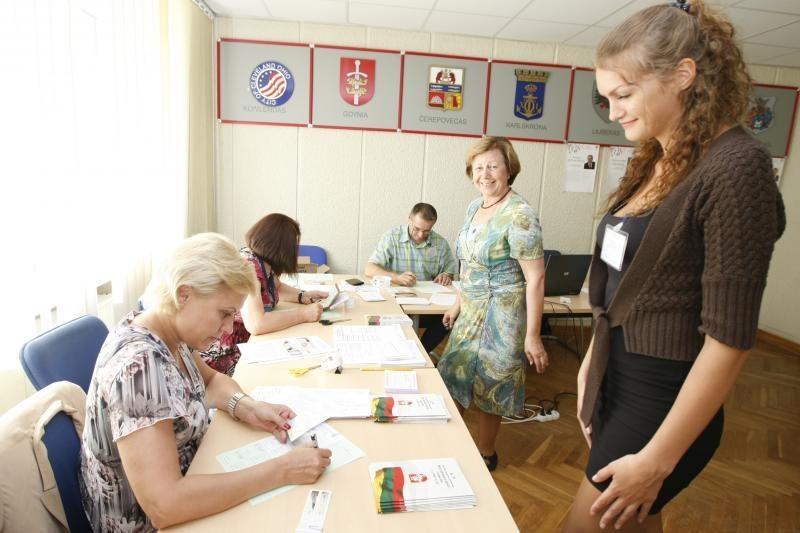 Renkant Seimo narį Klaipėdoje savo valią pareiškė apie 300 rinkėjų