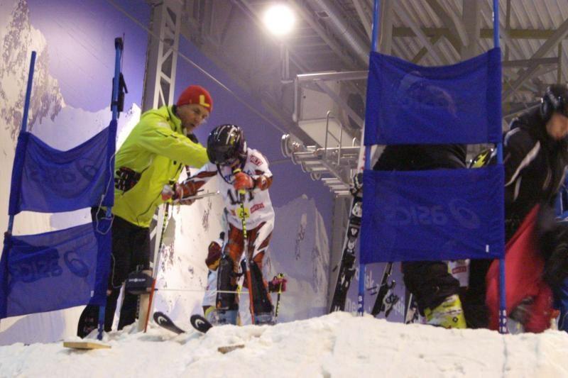 Kalnų slidininkai išmėgino jėgas Druskininkuose