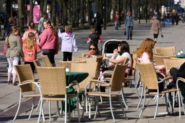 Lauko kavinėms suteiktos mokestinės lengvatos